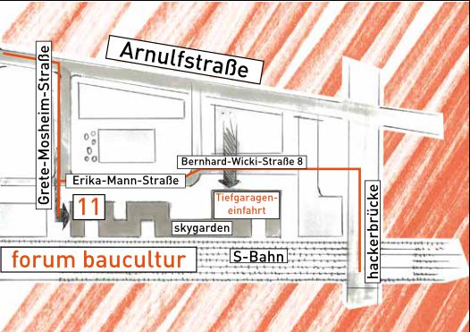Anfahrt Tiefgarage Forum Baucultur